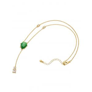 Artificial Emerald Rhinestone Layered Necklace -