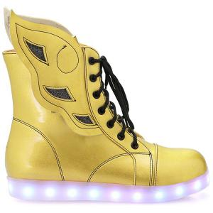 Lace-Up Winged High Top Led Luminous Shoes -