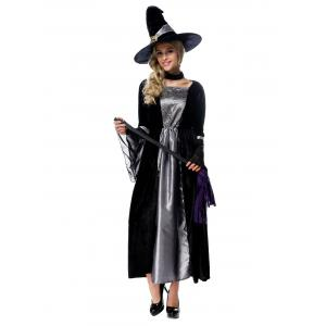 Adult Witch Cosplay Costume Halloween Witch Dress -