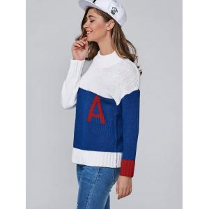 Color Block A Jacquard Pullover Sweater -