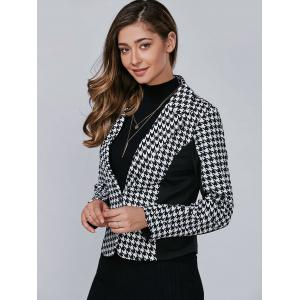 Хаундстут Pattern One Button Blazer - Чёрный L