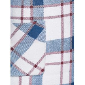 Plaid Wool Blend Coat with Pockets -