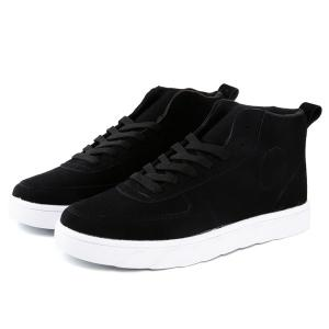 Lace-Up Suede Mid Top Shoes -