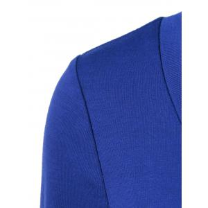 Double-Breasted Asymmetrical T-Shirt - BLUE M