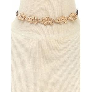 Faux Leather Velvet Tree Leaf Choker -