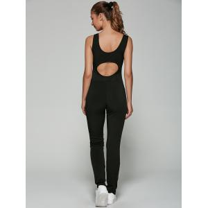 Sleeveless Hollow Out Mesh Spliced Jumpsuit -