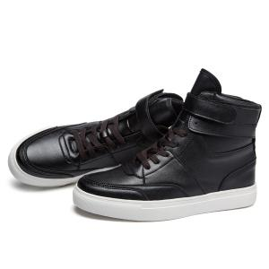 Casual PU Leather Lace-Up Boots - BLACK 41