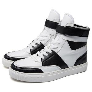 Casual PU Leather Lace-Up Boots - WHITE 44