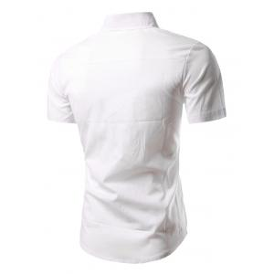 Turn-Down Collar Short Sleeves Business Shirt -