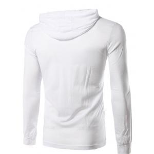 Hooded Long Sleeve T-Shirt - WHITE 2XL