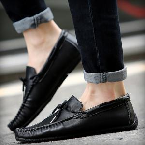 PU Leather Slip-On Casual Shoes -