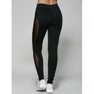 Mesh Patchwork See-Through Leggings -