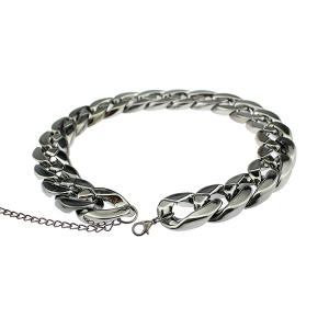 Chunky Thick Chain Adjustable Necklace - GUN METAL