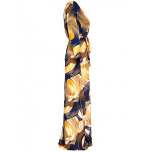 Abstract Maxi Wrap Dress -