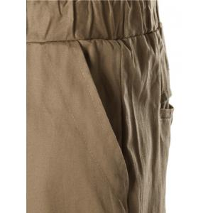 Button Embellished Drawstring Jogger Chino Pants - KHAKI 3XL