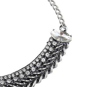 Knitted Teardrop Fake Collar Necklace -