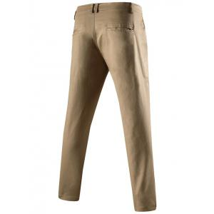 Mid-Rise Zipper Fly Pocket Back Skinny Chino Pants - KHAKI 3XL