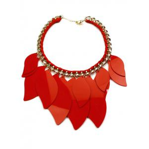 Geometry Leaves Statement Necklace -