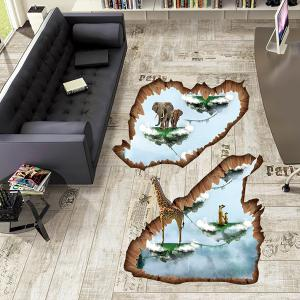 Creative Removable 3D Floating Island Bedroom Kindergarten Floor Sticker -