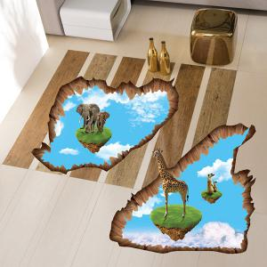 3D Creative Removable Floating Island Bedroom Kindergarten Floor Sticker -