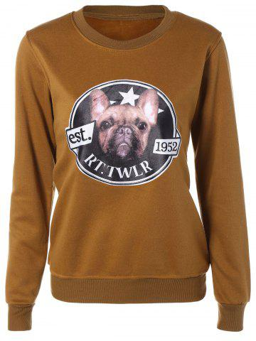 Cheap Dog Print Fleece Sweatshirt