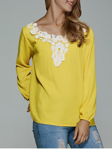Outfits Appliques Long Sleeve Blouse