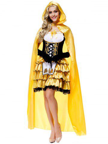 Chic Halloween Fairy Tales Goldilocks Dress Costumes With Cloak