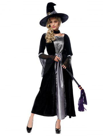 Chic Adult Witch Cosplay Costume Halloween Witch Dress