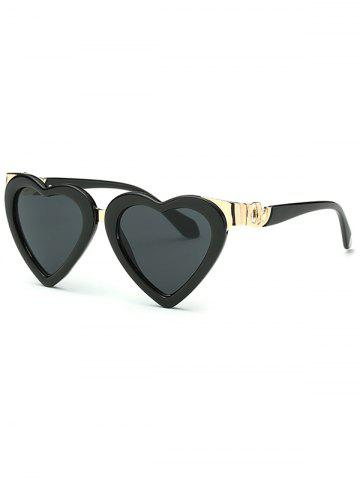 Sale Cool Metal Match Heart Shape Sunglasses