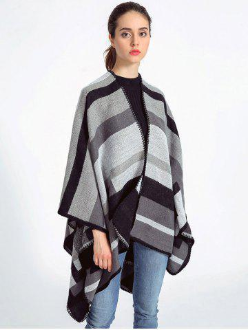 New Autumn Stripe Pattern Wrap Shawl Pashmina