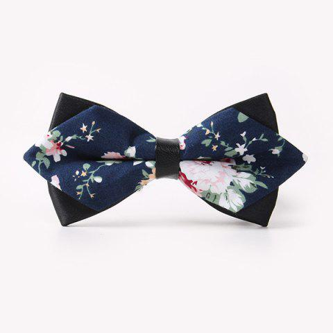 Chic Banquet Peony Sharp-Angled Double-Deck Bow Tie