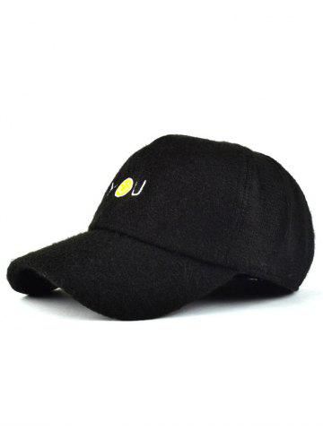 Sale Fall Smile Face You Embroidery Knit Baseball Hat