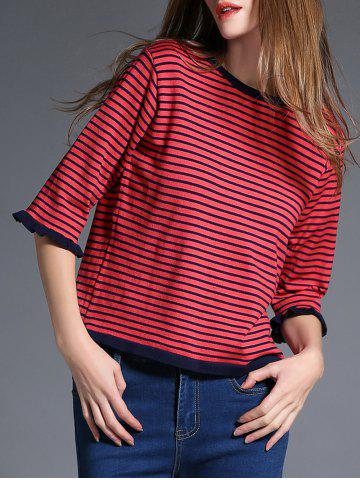 Discount Two Tone Striped Sweater