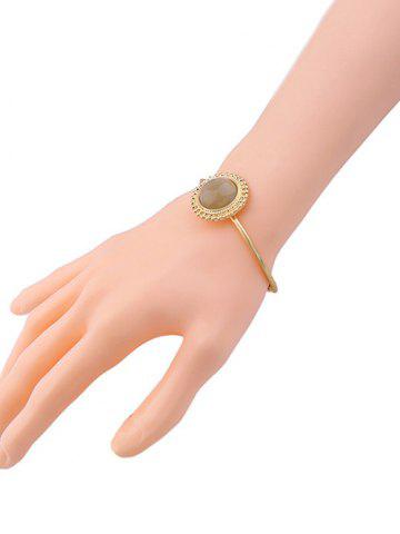 Cheap Faux Gem Sun Embellished Cuff Bracelet