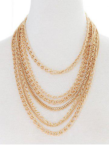 Trendy Layered Chains Strand Necklace