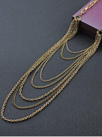 Buy Vintage Multilayered Tassel Chains Necklace GOLDEN