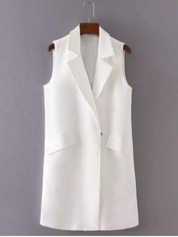 Chic Letter Embroidered Slimming Waistcoat