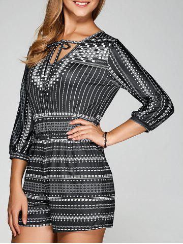 Chic Ethnic Style Printed Romper