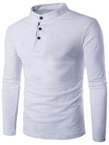 Outfit Slim-Fit Grandad Collar Long Sleeve T-Shirt