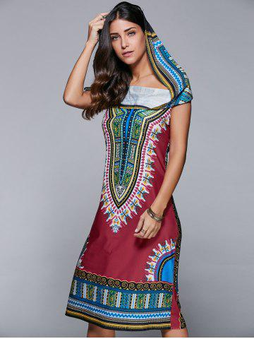 Best Hooded Tribal Print Dress