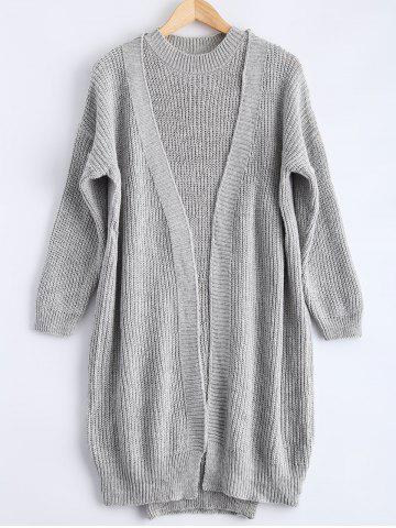 Shop Ribbed Knitted Dress + Loose-Fitting Cardigan Twinset