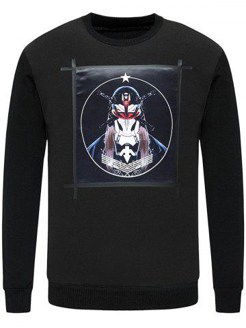 Outfit Crew Neck Masked Men Printed Knitwear