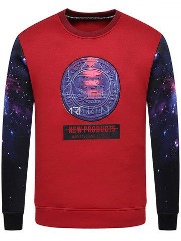 Buy Crew Neck Graphic Print Galaxy Sweatshirt