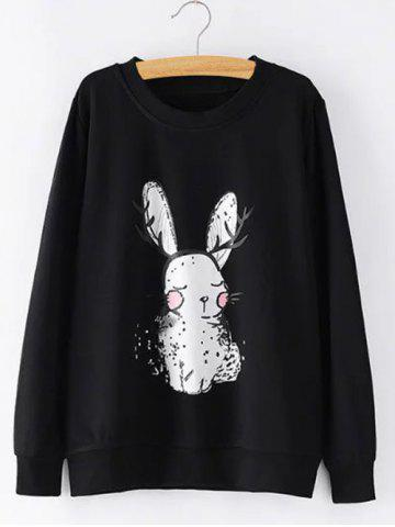 Shop Plus Size Bunny Printed Sweatshirt
