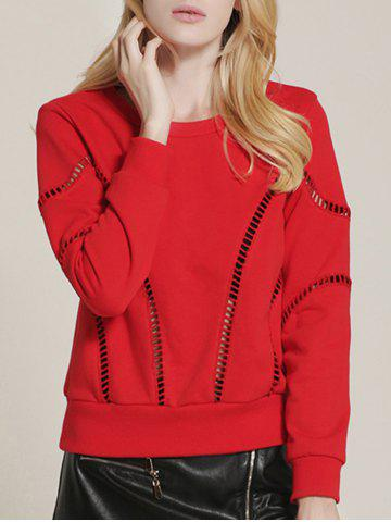 Chic Hollow Out See Through Sweatshirt