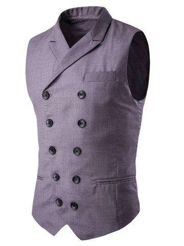 Online Lapel Collar Double Breasted Waistcoat