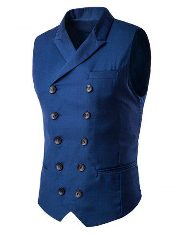Shop Lapel Collar Double Breasted Waistcoat