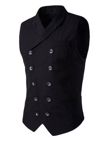Outfits Lapel Collar Double Breasted Waistcoat