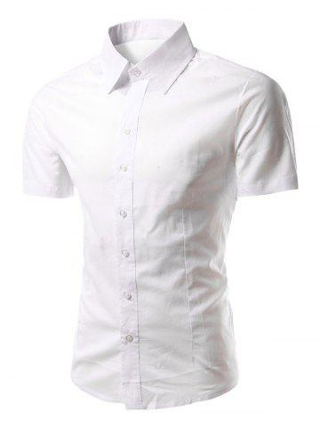 Hot Turn-Down Collar Short Sleeves Business Shirt