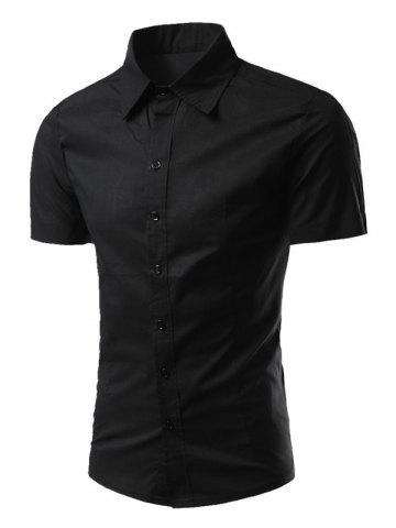 Unique Turn-Down Collar Short Sleeves Business Shirt